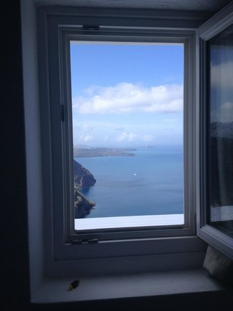 Santorini Princess: View from Bedroom Window