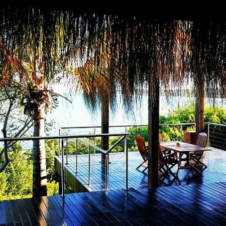 Anantara Bazaruto Island Resort : The Deck of our Villa with outside table