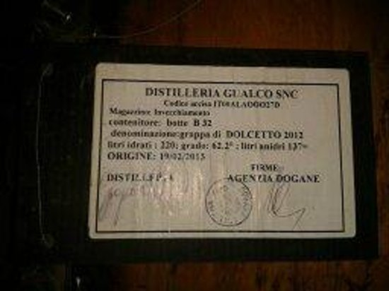 Distilleria Gualco : la distillerie de grappa