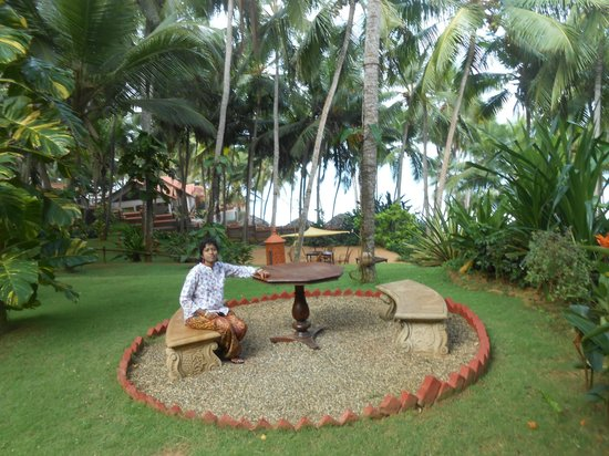 Thapovan Heritage Home: Park Area opp to Dining