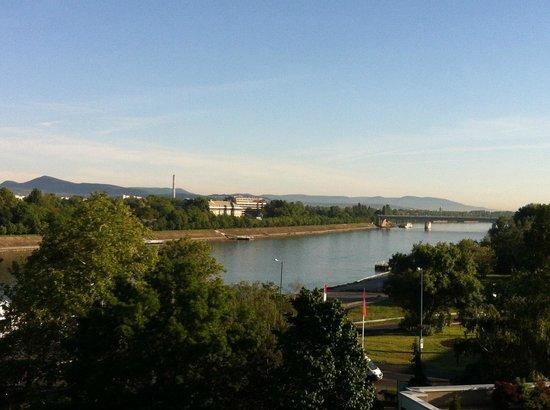 Danubius Hotel Helia : View of the Danube and Margit Island from my room.
