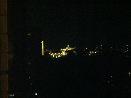 Danubius Hotel Helia : Night view from my room, looking left.