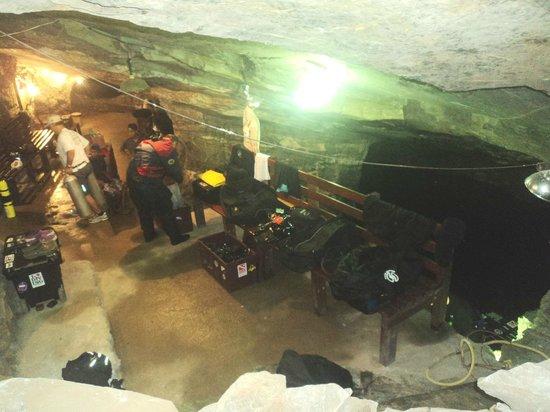 Minas da Passagem: Área de mergulho com equipamento