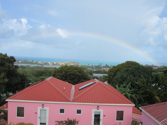 The Villas at Sunset Lane : The capturing of a rainbow at breakfast.