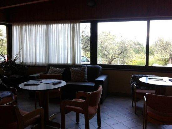 Hotel Ristorante Panoramica : Sala Tv con vista sugli ulivi