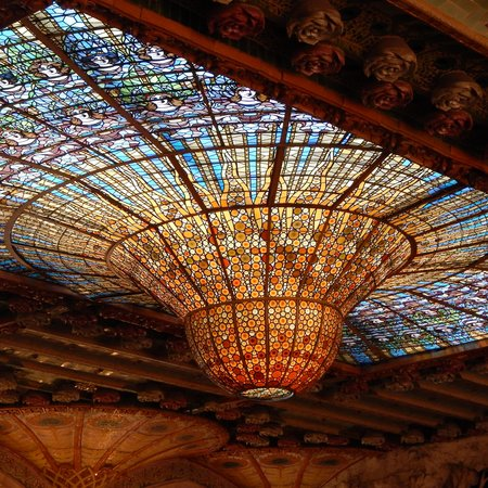 Palau de la Musica Orfeo Catala: Iconic Ceiling