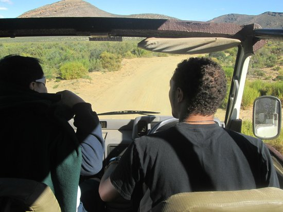 Aquila Private Game Reserve - Day Trip Safari: The truck and the tour guide - driver
