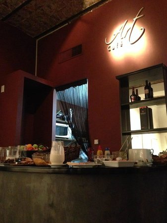 A Hotel  Art Gallery : Área de café-da-manhã