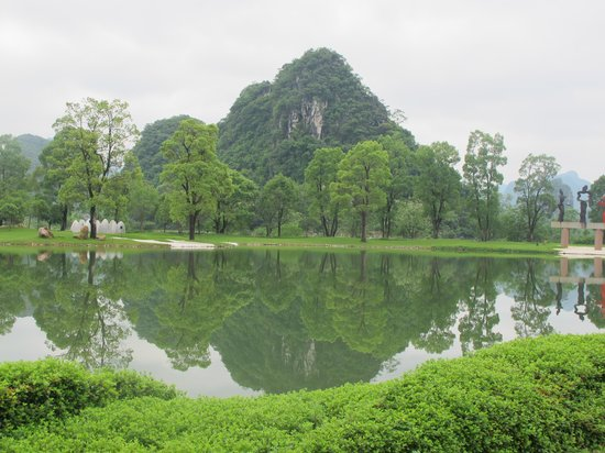 Club Med Guilin: beautiful landscaping in club med