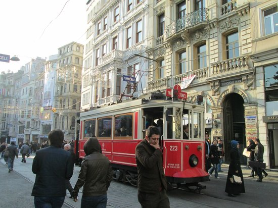 Galatasaray Tram: At the Galatasaray Stop