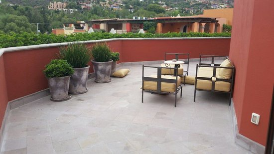 Rosewood San Miguel de Allende: Our private patio, room 302