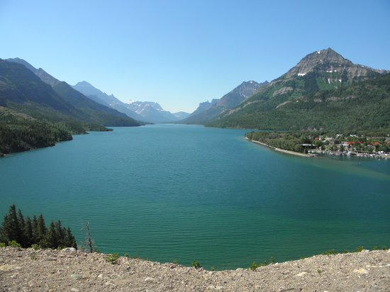 Prince of Wales Hotel : View of Waterton Lake from Hotel