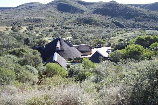 Nyaru Private Game Lodge: Restuarant building from the lookout