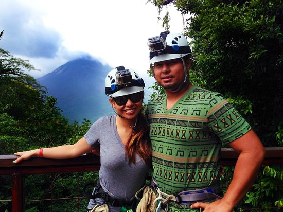 Costa Rica Sky Adventures - Arenal Park: view of Arenal Volcano from the platform