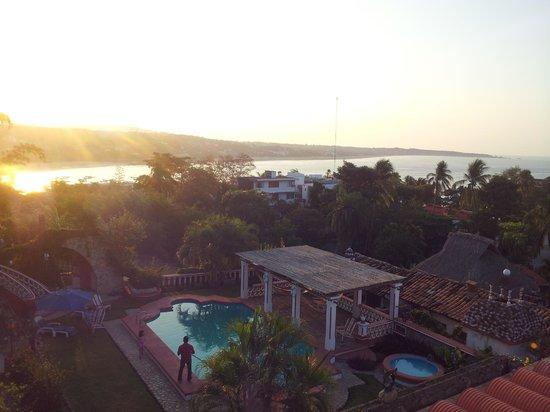 Hotel Paraiso Escondido: Aussicht vom Balkon bei Sonnenaufgang