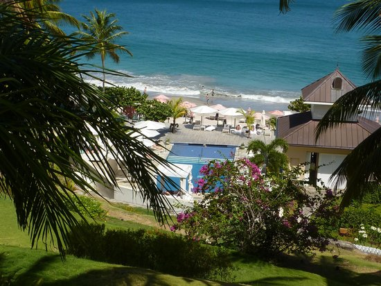 BodyHoliday Saint Lucia: View from the spa overlooking one of the pools