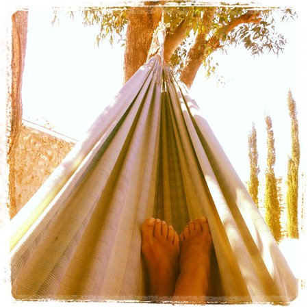 Riad Baoussala: Relaxing in the hammock