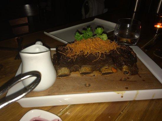 Mezcla : Smoked bison ribs