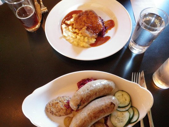 Otto's: Duck Schnitzel and Wurst Platte