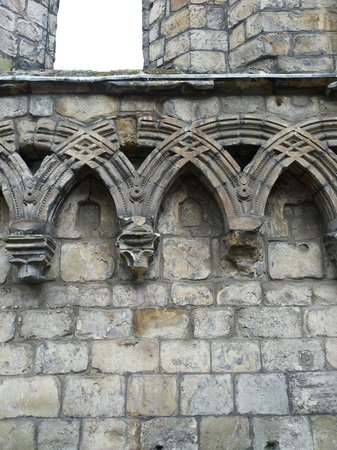 Holyrood Abbey: Archi a botte intrecciati