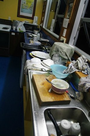 Sir Cedrics Chateau Franz Backpacker and Motel: Filthy kitchen