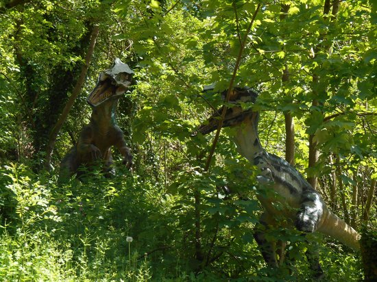 Wookey Hole Caves : Raptors in the trees