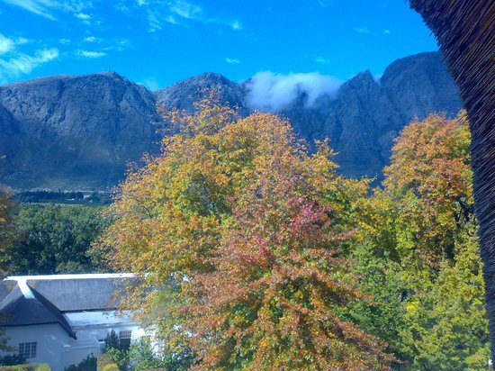 Le Franschhoek Hotel & Spa : View from my room