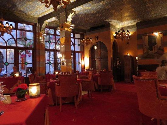 Restaurant of La Maison Arabe : resto intérieur