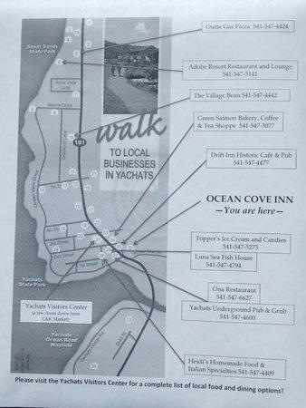 Ocean Cove Inn : Steps To Many Great Restaurants