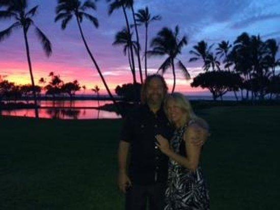 Mauna Lani Terrace Condominiums: Sunset outside the condo.