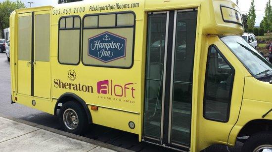 Sheraton Portland Airport Hotel: Sheraton Shared Ride Van