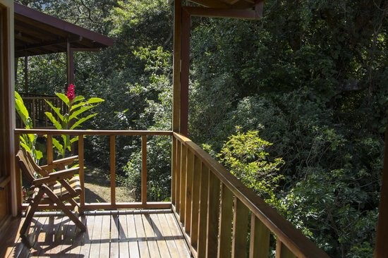 Ecolodge San Luis: Porch Cabina