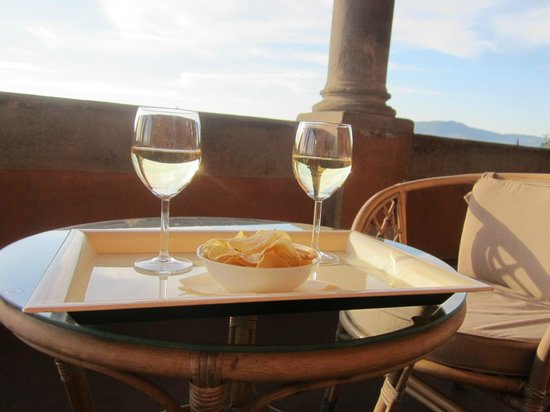 Hotel Palazzo Guadagni : Pause dans la loggia