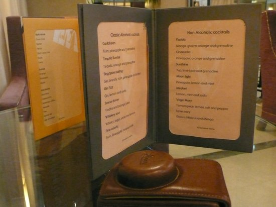 Jaz Mirabel Club : Cocktail menu