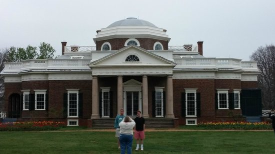 Monticello : View of rear of house