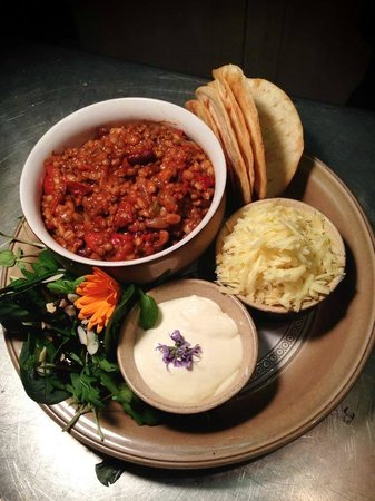 The Exmoor Beastro: Vegetarian chilli with tacos