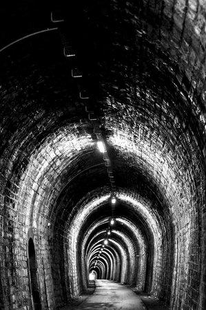 La Villa De Mazamet: The 800m rail tunnel, one of many along the Mazamet Rail Trail right at the Villa's doorstep.
