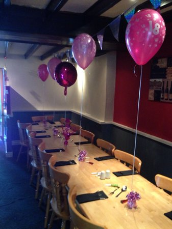 21st birthday party decor Picture of Valentines Restaurant