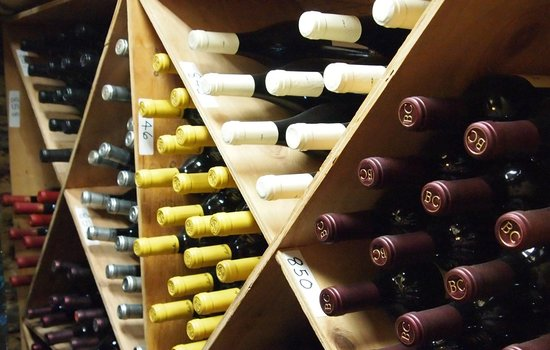 Groveland Hotel's Cellar Door: A small portion of our award-winning wine cellar's collection