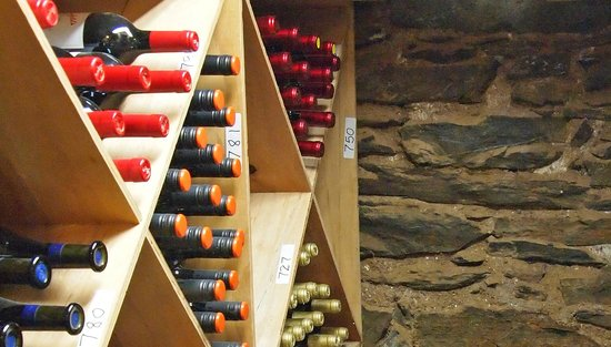Groveland Hotel's Cellar Door : One section of our on-site wine cellar with historic stonework from 1849