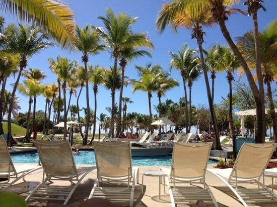 Hilton Ponce Golf & Casino Resort: the gorgeous pool area