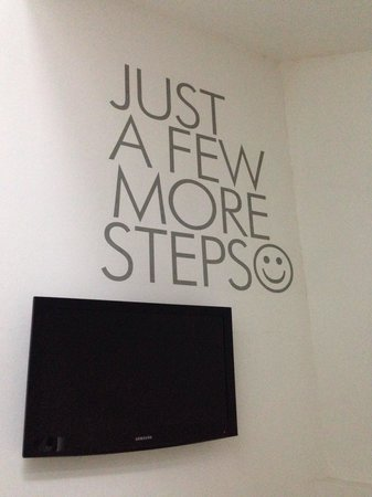 The Tides Boracay: Staircase - encouraging note to cheer you on when going up the stairs :p