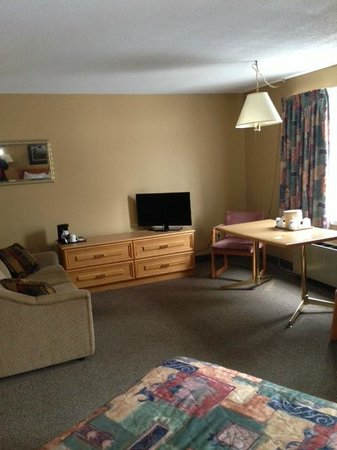 """Terra Nova Resort & Golf Community : View from bed into the """"living room"""" area."""