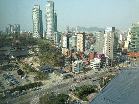 InterContinental Seoul COEX : Templo enfrente del Hotel
