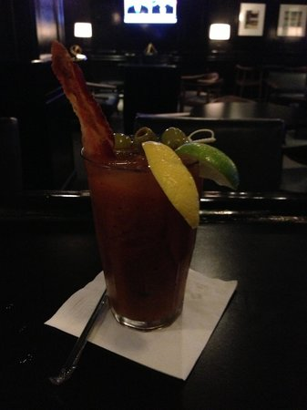 Lord Baltimore Hotel: Delicious Bacon Bloody Mary from LB Tavern!