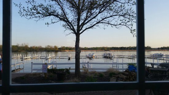 Oakwood Resort: Our view at dinner