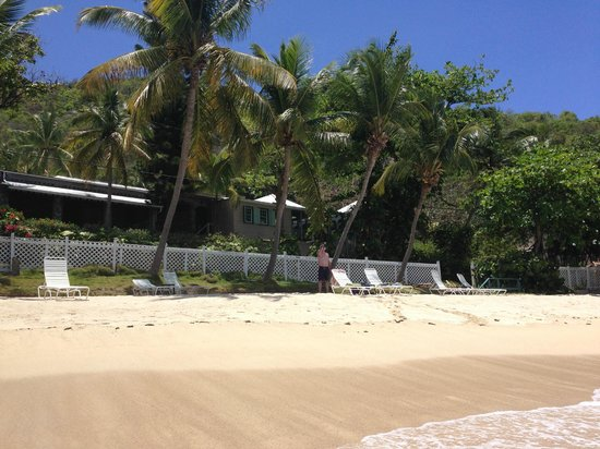 The Sugar Mill Restaurant : View of Sugar Mill from beach