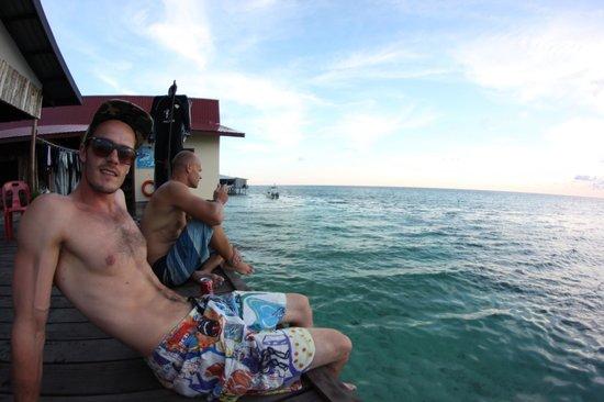 Uncle Chang's Sipadan Mabul Dive Lodge: After dive beer
