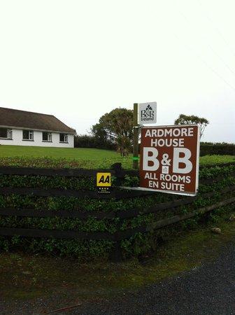 Ardmore House: arrivée au b&b