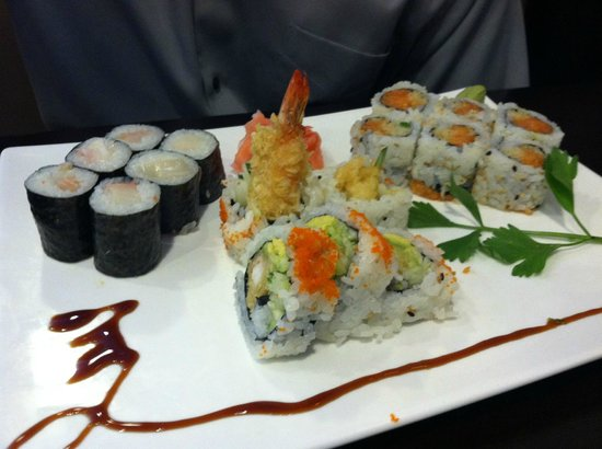 Pan Asian Cuisine Sushi Bar and Grill : Shrimp Tempura Roll, Sweet Roll, and maybe Tuna Roll (can't remember).